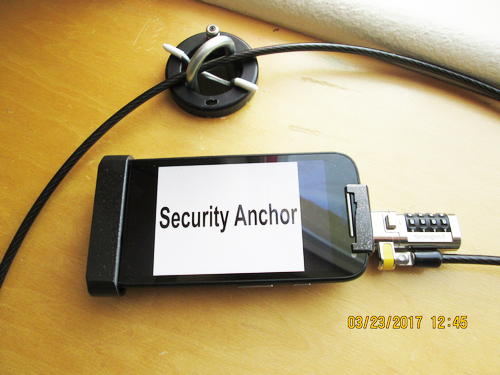 10 - US patent 9,603,446 Security Anchor locking to US patent 8,783,073 Apparatus for securing a Portable Electronic device 